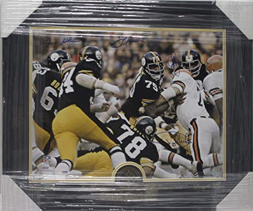 Pittsburgh Steelers Steel Curtain Autographed Signed Autograph Matted Framed 11x14 Photo PSA/DNA Coa