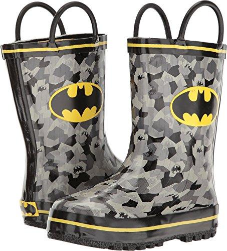 Favorite Characters Baby Boy's Batman Rain Boots BMS503 (Toddler/Little Kid) Black/Grey/Yellow 9 M US Toddler ()