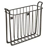 InterDesign Classico Wall Mount Newspaper and Magazine Rack for Bathroom - Bronze