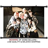 BTS KPOP Group Fabric Wall Scroll Poster (32 x 20) Inches
