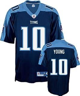 98e369940ee6 Amazon.com   Reebok Tennessee Titans Vince Young Replica Alternate ...