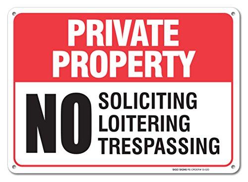 Private Property No Trespassing Sign No Trespassing Violators Will Be Prosecuted Sign Legend 10 X 14 Rust Free .40 Aluminum
