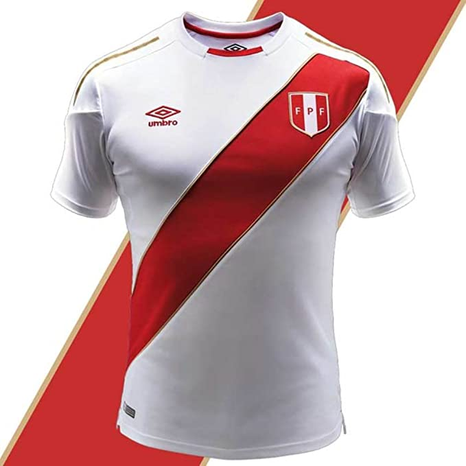 179952edb72 Umbro Peru Soccer Jersey World Cup 2018 Authentic Official Men's Soccer  Shirt (Large)
