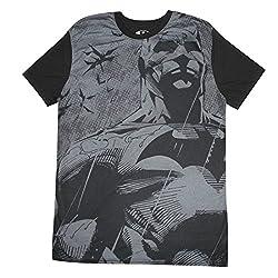 Dc Comics Batman Mens Crew-Neck Short Sleeve T-Shirt M Black