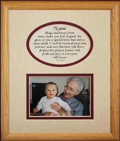 8x10 nana picture poetry photo gift frame creamburgundy mat heartfelt keepsake - Nana Frame