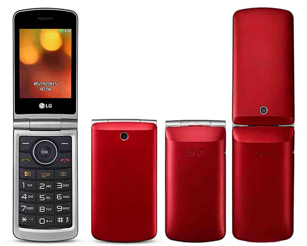 LG Flip Phone Senior Unlocked GSM Only 2G G360 Dual Sim Duos Mp3 Camera BIG BUTTONS Facebook Twitter LCD 3.0'' Bluetooth Factory Desbloqueados (Red) by LG (Image #1)