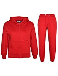 A2Z 4 Kids Kids Girls Boys Plain Tracksuit Hooded Hoodie Bottom Joggers 2-13