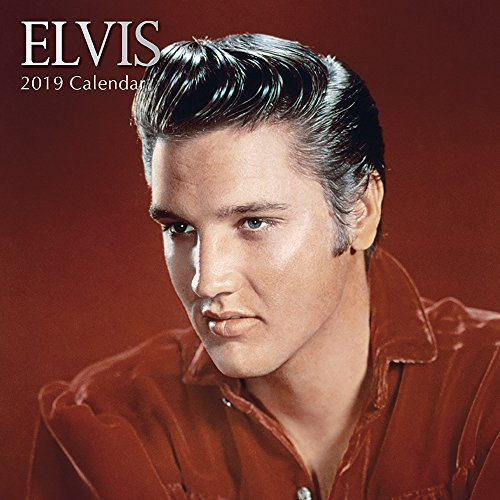 2019 Wall Calendar - Elvis Presley Calendar, 12 x 12 Inch Monthly View, 16-Month, Famous 50s 60s Singer Icon, Includes 180 Reminder Stickers