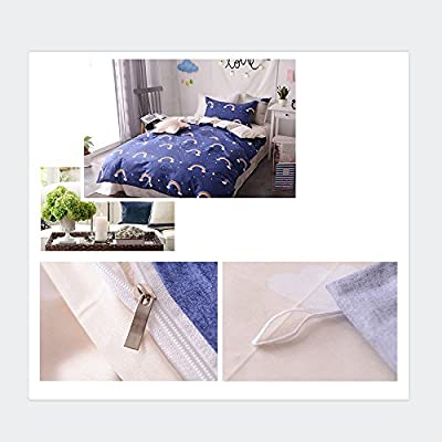 BuLuTu Cotton Summer Quilt Bedding Sets(Twin/Full/Queen) Hypoallergenic Cute Kids Duvet Cover Sets Hidden Zipper Closure With 4 Corner Ties For Home Décor