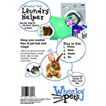 """Wheeky Pets Laundry Helper, Laundry Bag for Pet Beds, Fleece, C&C Cage Liners, Midwest Cage Liners and More, for Guinea Pigs, Rabbits and Small Pets, Green/White, Size 29"""" W x 31"""" L 5"""