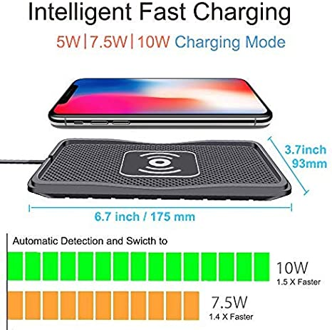 Wireless Charger car Wireless Charging pad qi 10W Quick Charger Thin Wireless car Charger Charging pad Wireless Phone Charger 7.5W/5W Wireless ...