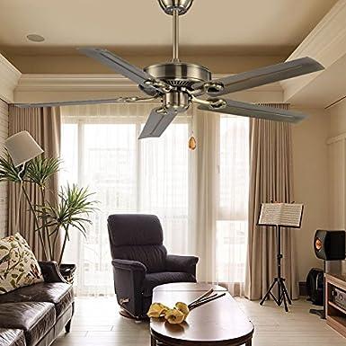 Ventilador de techo industrial, comedor, casa dormitorio retro, pequeña sala de estar, Ventilador de techo FARO Ventilador de lámina de hierro, sin lámpara, lámpara ventilador,hojas
