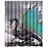 "Creative Design Ancient Dragon Pattern Waterproof Bathroom Fabric Shower Curtain,Bathroom decor 60"" x 72"" inches"