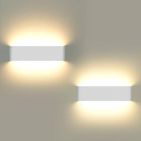 Lampade Da Parete.Lampade Da Parete Per Interni 2 Pezzi Applique Da Parete 12w Led Luci Su E Giu Lampada Da Parete Moderna Per Soggiorno Balcone Portico Per Scale