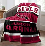 """The Northwest Company Officially Licensed NFL """"12th Man"""" Plush Rachel Throw Blanket, 60"""" x 80"""", Multi Color"""