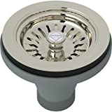 Rohl 734 Shaws Basket Strainer without Pop-Up, Polished Nickel