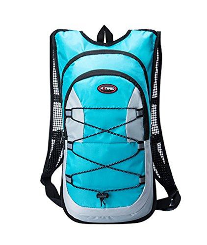YiJee 12L Bolsa Mochila de Agua Hidratación para Bicicleta Excursión Azul