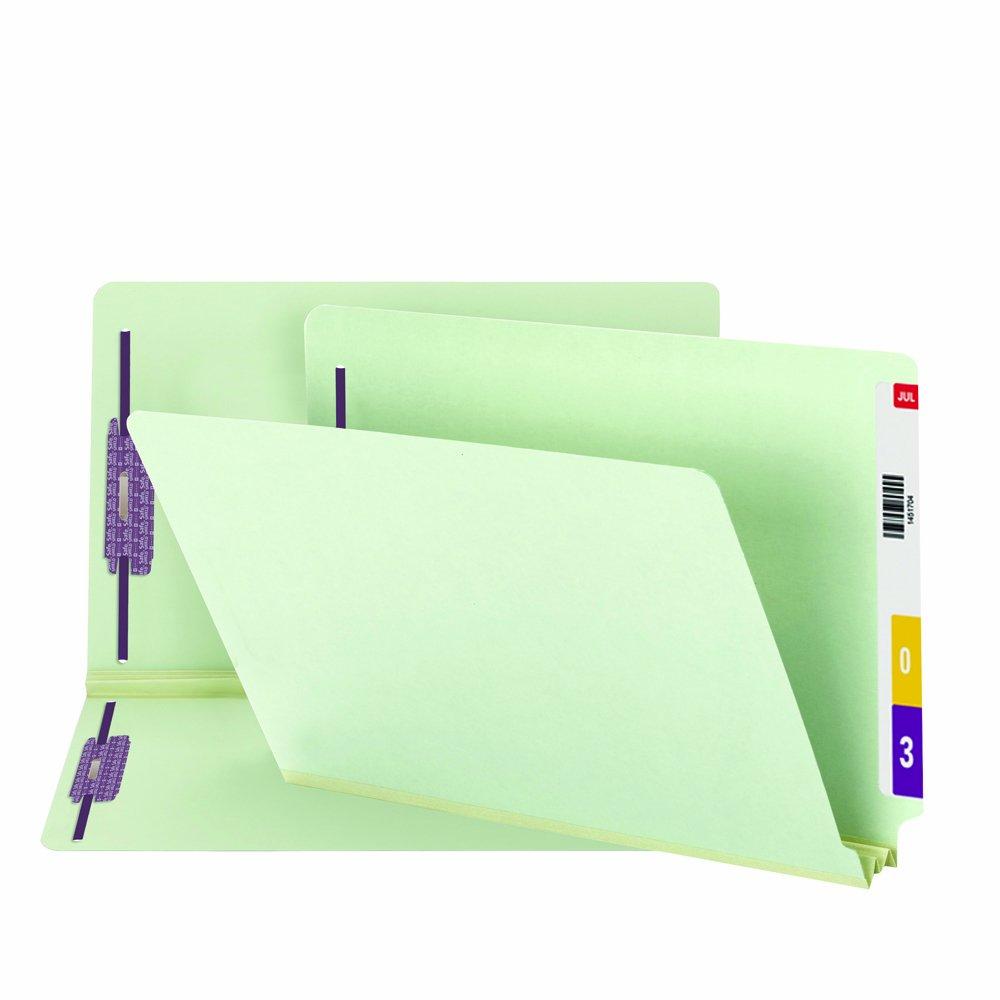Two Inch Expansion Folder, Two Fasteners, End Tab, Legal, Gray Green, 25/Box (並行輸入品) B00006IF4B