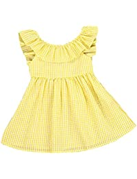 d3a28cfae Amazon.com  Yellows - Dresses   Clothing  Clothing