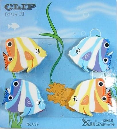 Kawaii 6 pedazos Animal Shape pequeños clips - Fish