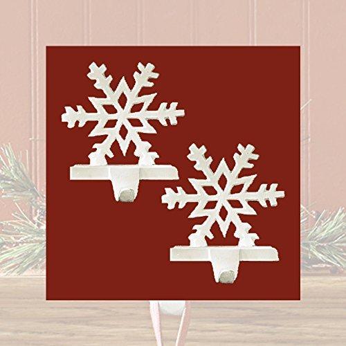 White Snowflake Stocking Holder - Set of 2