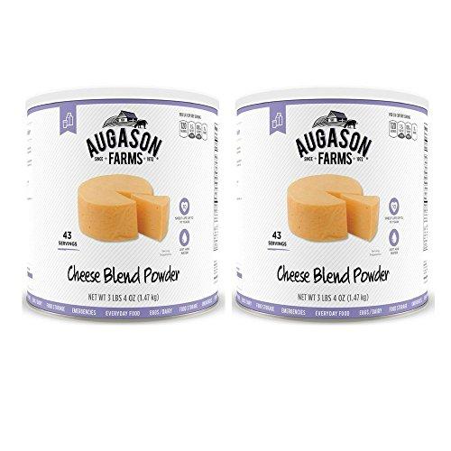 Augason Farms Cheese Blend Powder Food Storage 52oz #10 Can (2 can) by Augason Farms