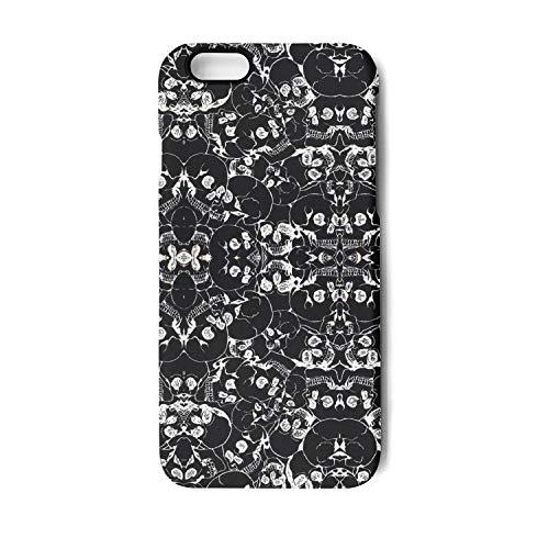 Halloween Inspiration with Skull Prints Phone Case for iPhone 6 Plus,6S Plus TPU Anti-Fingerprint Anti-Scratch Glossy Soft Anti Slip Thin Shockproof -