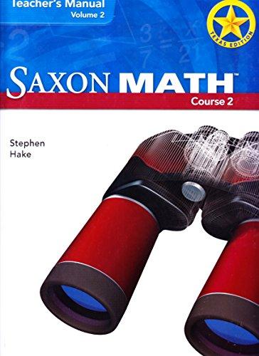 Saxon Math, Course 2, Teacher's Manual, Vol. 2