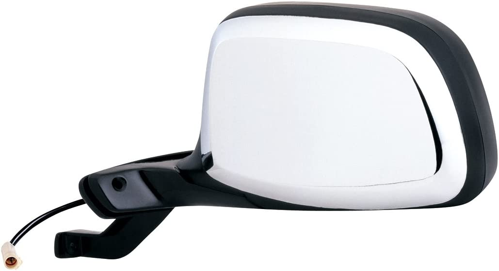 Fit System 61032F Ford Driver Side Replacement OE Style Black Chrome Power Folding Mirror
