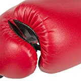 Pro Force Leatherette Boxing Gloves Red w/Black
