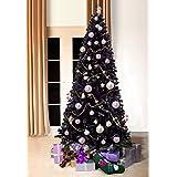 black bergen fir luxury artificial christmas tree 7 ft tall 210cm slimline 34 ft wide modern stylish contemporary quality xmas trees - Black Christmas Trees