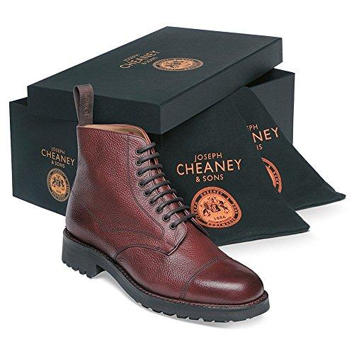 Cheaney Country R II Burgundy Leather Grain Burgundy Derby Pennine in Veldtschoen Boot rqgrH