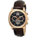 Bulova Men's 97B136 Classic Analog Display Japanese Quartz Brown Watch