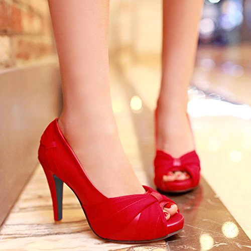 High Shoes Footwear Women Red Heel Fashion Lady Dress Chila Zuban SRnHwxqqB