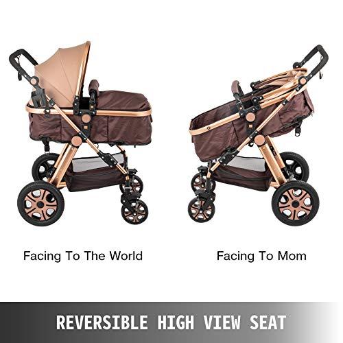 51dYVqKsoRL - VEVOR Baby Stroller 2 In 1 Stroller Bassinet Stroller Foldable Anti-Shock Newborn Stroller Baby Carriage Stroller Luxury Baby Trend Stroller Stroller For Baby Pram Stroller