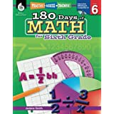 180 Days of Math for Sixth Grade – 6th Grade Math Workbook for Ages 10 to 12, Includes Digital Resources