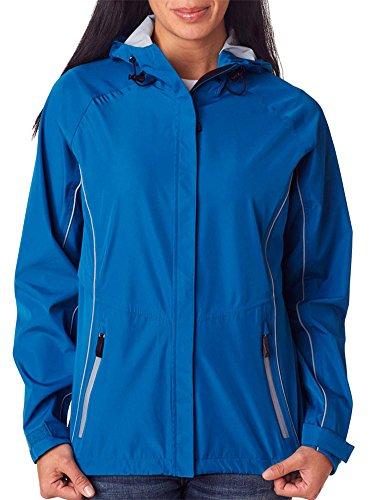Storm Creek Ladies' Seam-Sealed Hooded Shell Jacket, Nightshade/Steel, Medium