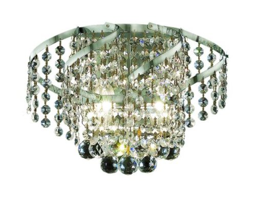 Elegant Lighting ECA1W12C/RC Belenus 8-Inch High 2-Light Wall Sconce, Chrome Finish with Crystal (Clear) Royal Cut RC Crystal by Elegant Lighting