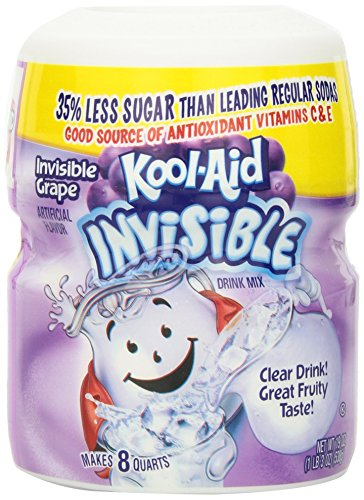 Kool Aid Grape Invisible Drink Mix (19 oz Canister) -
