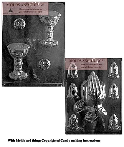 HOST/CHALICE Chocolate Candy Mold And Assorted Praying Hands Chocolate Candy Mold With Copywrited molding -