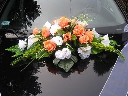 Decorazioni Matrimonio Arancione : Auto drachensilber auto decorazione per matrimoni 9 rose