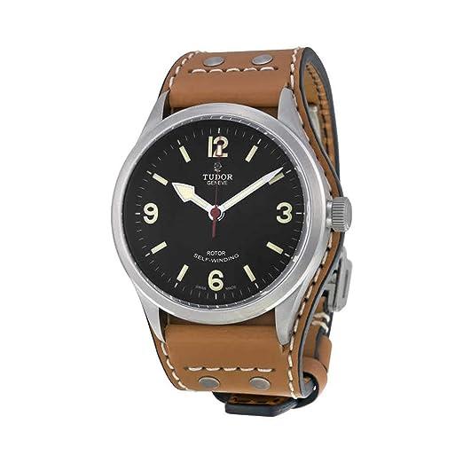 Tudor Heritage Ranger - Reloj automático negro Dial de tobaco Marrón de Piel para hombre 79910-bundlth: Amazon.es: Relojes