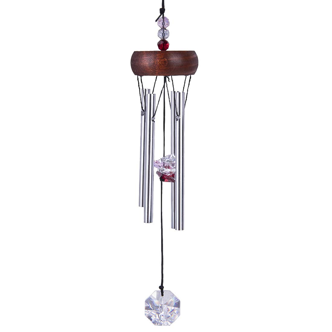 """H&D 11"""" Wind Chimes with 4 Aluminum Tubes Musical Melody Wind Bell Drop Chimefor Garden Patio Indoor Decor"""