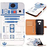 LG G5 Case,LG G5 Wallet Case - R2D2 Astromech Droid Robot Pattern PU Leather Wallet Case Stand Cover with Cash Card Slots for LG G5 Smart Phone