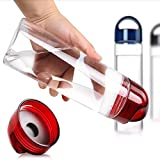 TecGeo(TM) Actionclub Fruit Water Bottle Juices Fruit Bottles My Camping Colorful Health Bottle Shaker Frosted Plastic Outdoor KettleHH694