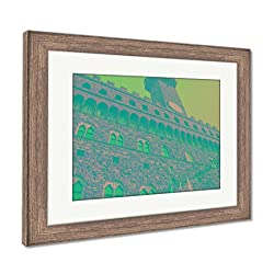 Ashley Framed Prints Florence Old Palace, Wall Art Home Decoration, Color, 34x40 (frame size), Rustic Barn Wood Frame, AG5586103