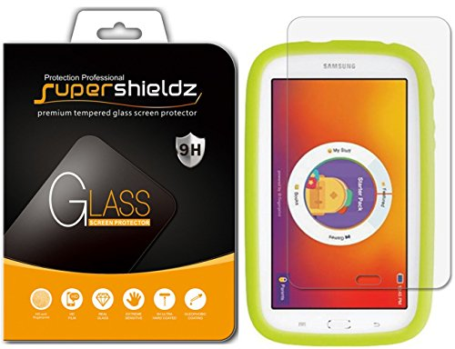 Supershieldz for Samsung Kids Galaxy Tab E Lite 7.0 7 inch Tempered Glass Screen Protector Anti Scratch, Bubble Free (3 Tab Galaxy Kids)