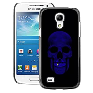 A-type Arte & diseño plástico duro Fundas Cover Cubre Hard Case Cover para Samsung Galaxy S4 Mini i9190 (NOT S4) (Skull Bling Purple Black Minimalist)