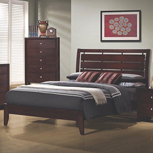 Coaster Home Furnishings Serenity Platform Cut-Out Headboard Rich Merlot Queen Bed