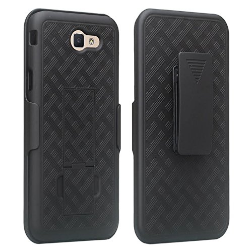 GALAXY WIRELESS Compatible For Samsung Galaxy J7v Case/J7 (2017) Case/J7 Prime Case/J7 Perx Case/J7 Sky Pro Case,Galaxy Halo Swivel Slim Belt Clip Holster Protective Case Cover [Kickstand] - Black by GALAXY WIRELESS (Image #2)